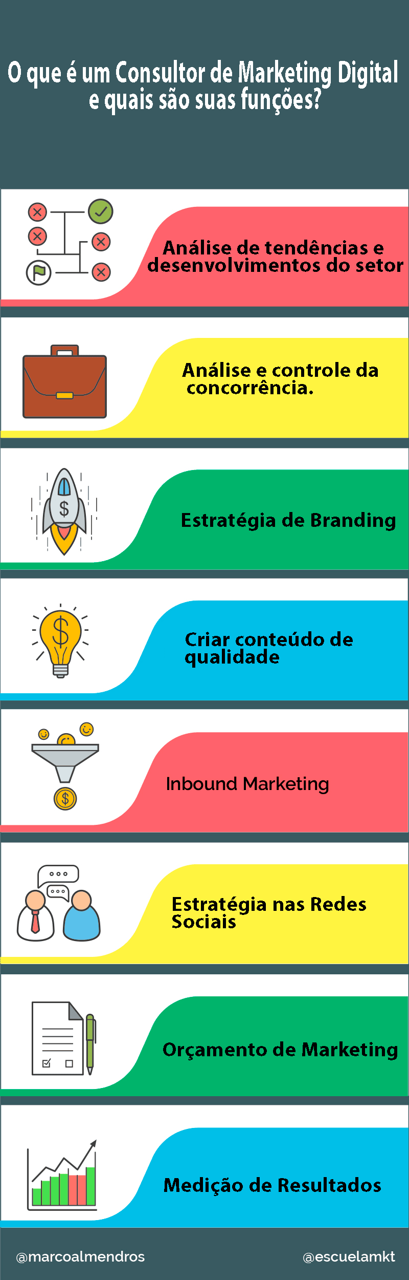 Infográfico Consultor de Marketing Digital